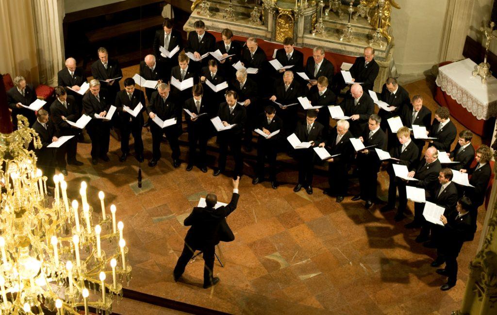 chorus and conductor