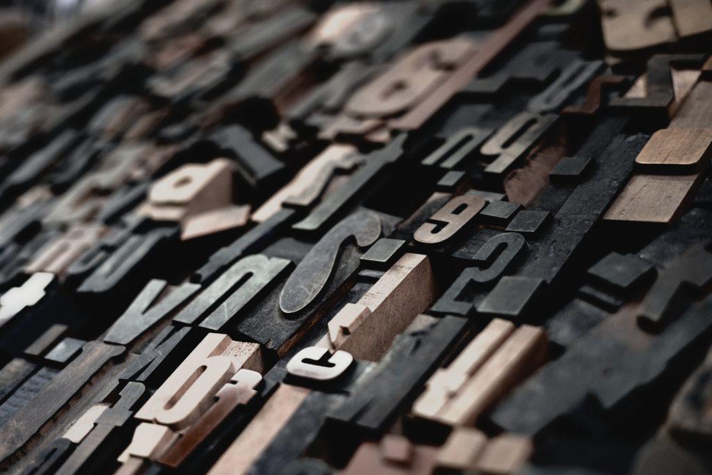 closeup photo of decorative cutout letters